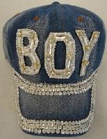 Denim Hat with Bling [BOY] Silver